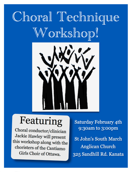 Choral Workshop Poster